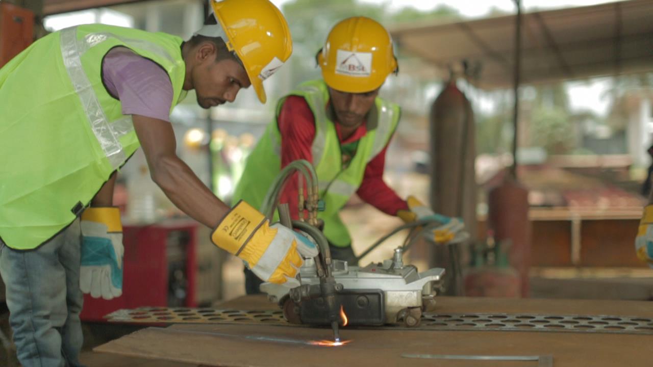 Metal Building Workers